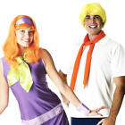 Scooby Doo Daphne & Fred Couple Fancy Dress Costume Mens Ladies Outfits + Wigs