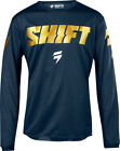 Shift Racing 2018 WHIT3 LABEL Navy/Gold Adult Mens Jersey MX ATV offroad Gear