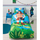Cubby House Crocodile Hunter Reversible Quilt Cover Set Single Double OR Cushion