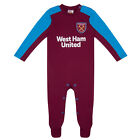 West Ham United FC Official Football Gift Home Kit Baby Sleepsuit