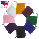 "10 30 PCS Velvet velour Jewelry gift drawstring bag pouch 9X12cm 3.5x4.7"" Black"