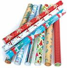 5 x Shiny Metallic Christmas Birthday Present Wrapping Foil Paper Gift Wrap Roll