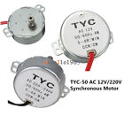 TYC-50 AC 12V/220V 5/6RPM 50/60Hz 4W CW/CCW Synchronous Motor For Microwave