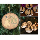 DIY Pieces 4-6cm Unfinished Predrilled Wood Slices Round Discs With Rope AU 97K