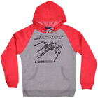 Star Wars Hoodie Gray Red Mens Fleece Wiredx Authentic Fashion S-2XL $13.0 USD