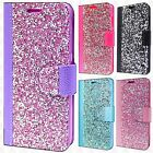 For Apple iPhone X Premium Bling Diamond Wallet Flip Pouch Cover +Screen Guard