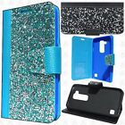 For LG Stylo 2 LS775 Premium Bling Diamond Wallet Flip Pouch Cover +Screen Guard