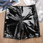 Womens Welook Leather Zippered Crotch Short Leggings Pants Hot Shorts