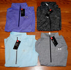 NWT Womens UNDER ARMOUR 1/2 Zip Twist Purple Blue Black Silver Medium Large M L
