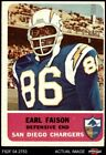 1962 Fleer #87 Earl Faison Chargers VG/EX $20.0 USD on eBay