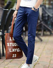 Casual Mens Ninth Pants Skinny Slim Fit Korea Thin Summer Trouser Straight Leg