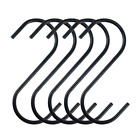 Zelta Anti-rust S Hanging Hooks Stainless Steel Black Set of 10 FREE SHIPPNG NEW