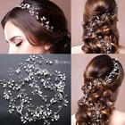 Bridal Accessories Faux Pearl Rhinestones Hair Vine Headband Wedding DZ88 01