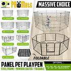 "24 30 36 42"" 8 Panel Pet Playpen Fold Exercise Cage Fence Enclosure Dog Puppy"