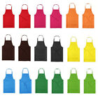 Thicken Cotton Polyester Blend Anti-wear Cooking Kitchen Bib Apron With Pockets