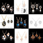 Cheap Cubic Zircon Crystal Necklace Earrings Jewelry Set For Women Wedding Gift