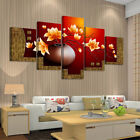 House Living Room 5 Piece Picture Flower Canvas Wall Art Print Oil Unframed US