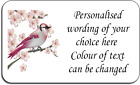 Colourful Bird Personalised Labels 38.1mm x 21.2 mm with FREE protective wallet