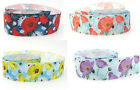 """NEW 25mm 1"""" Vintage Floral Flower Shabby Chic Satin Ribbon Spring Eco Quality"""