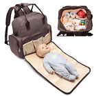 Large Capacity Mummy Bag Baby Diaper Nappy Maternity Changing Travel Backpack US