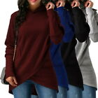 Ladies Fashion Hooded Pullover Long Sleeve Casual Hoodie Slim Coat Jumper Tops