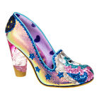 NEW IRREGULAR CHOICE *LADY MISTY* GOLD METALLIC UNICORN - GLASS HEELS