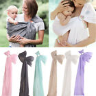 Ergonomic Adjustable Newborn Baby Carrier Ring Sling Wrap Backpack Pouch BKB