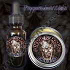 Devil's Mark Exorcist Beard Balm Beard Oil Triple Six Artistry Peppermint Lime