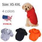 Extra Large - Small Dog Puppy Cotton Hoodie Clothes winter Black Red Big Warm