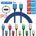 5X USB-C Type-C FAST CHARGING CABLE CORD SYNC FOR SAMSUNG GALAXY S8 /PLUS NOTE8