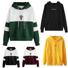 Women Lady Long Sleeve Hoodie Sweatshirt Hooded Pullover Coat Casual Tops Blouse