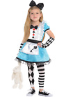 Girls 4 Piece Alice In Wonderland World Book Day Fancy Dress Costume Outfit
