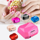 36W Nail Dryer Lamp Nail Diamond Shaped LED Lamp Nails Curing UV Gel Nail Polish