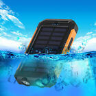 Waterproof 50000mAh 2USB LED Solar Power Bank Portable Backup Battery Charger