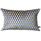 Scatter Box Remi Cut Velvet Feather Filled Cushion, Blue