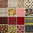 Huge Sale Food Themed Patchwork 100% Cotton Fabric 20+ Designs