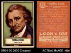 1952 Topps Look 'N See #78 Thomas Paine VG