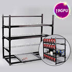 19GPU Bitcoin Mining Rig Aluminum Stackable Case Open Air Frame ETH/ZEC