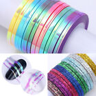 Mermaid Candy Color Matte Nail Striping Tape Line Adhesive Sticker Nail Art Tool
