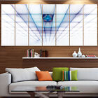 wall protection panels - Designart 'Light Blue Laser Protective Grids' Abstract Wall Art on Canvas