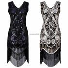 Women Vintage Style Sequin Embellished Fringed Evening Party Club Pencil N4U8