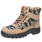 MIL Men's Safety Shoes Work Trainers Steel Toe Climbing Ankel Boots Camouflage
