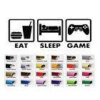 Eat Sleep Game Gaming decal sticker for home window wall door decor car laptop