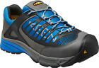 Keen Utility Mens Aurora Low ESD Steel Toe Work Shoes Gargoyle Imperial Blue St