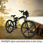 "19'' 26"" Folding Electric Mountain Bike Off-Road Bicycle Ebike 250W 36V LED hot"