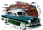 1954 Green Chevy Bel Air c Custom Hot Rod Diner T-Shirt 54 Muscle Car Tee's