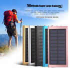 10000mAh Portable Solar Power Bank Dual USB Fast Charger DIY Box Case For Phone