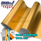 *Premium Gold Chrome Glitter Sparkle Vinyl Wrap Sticker Decal Air Bubble Free
