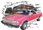 1981 Red Chevy El Camino b Custom Hot Rod Garage T-Shirt 81 Muscle Car Tees