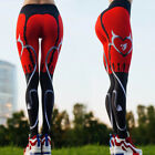 UK Womens Sports Leggings Exercise Red Gym Yoga Running Fitness  Trousers Pants